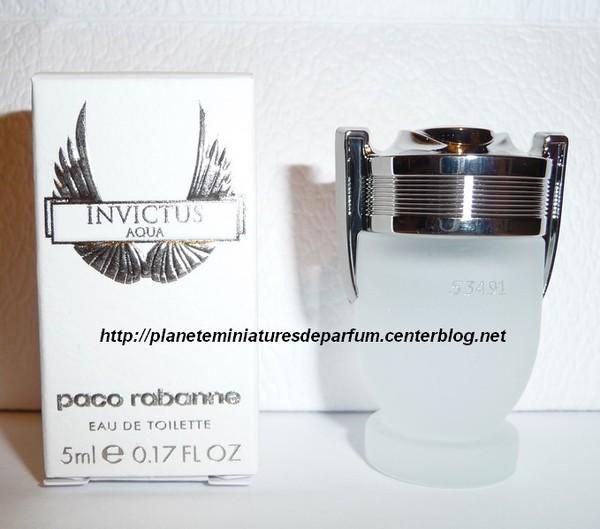 Parfum Rabanne Homme Paco Miniature Invictus Aqua knw0P8XNOZ