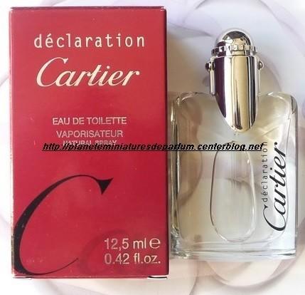 12 Ml Homme Miniature Cartier Parfum 5 Déclaration 3j5A4LR
